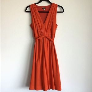 J. Crew Orange Crepe Dress